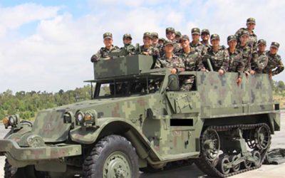 Cadetes en su primer visita al 9/o RBR y la Escuela Militar de Blindaje.