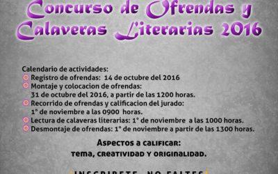 Concurso de Ofrendas y Calaveras Literarias