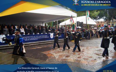 Desfile conmemorativo al CCVI Aniversario de la Independencia de México.