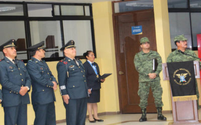 Visita oficial a nuestra Academia del General de Brigada Diplomado de Estado Mayor, Raúl Gámez Segovia, Comandante de la 25 Zona Militar.